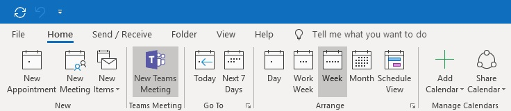 Microsoft Teams – Schedule a Skype for Business Meeting